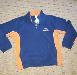 NWT Broncos Fleece Pullover SIZE XL